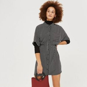 Topshop Kady Striped Shirt Dress (Missing Belt)